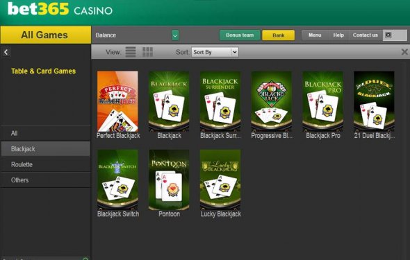 Bet365 Casino desktop software
