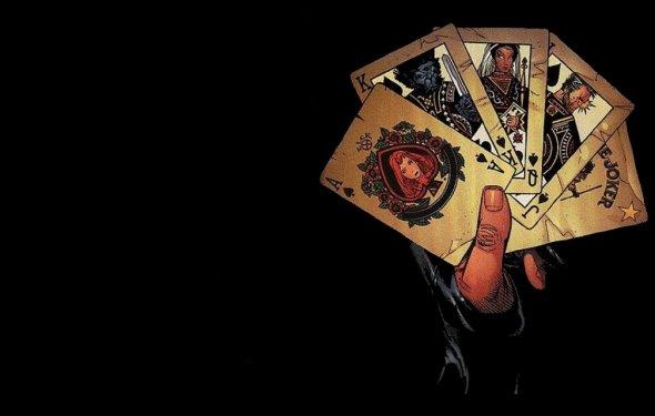 Black Poker Cards Wallpaper