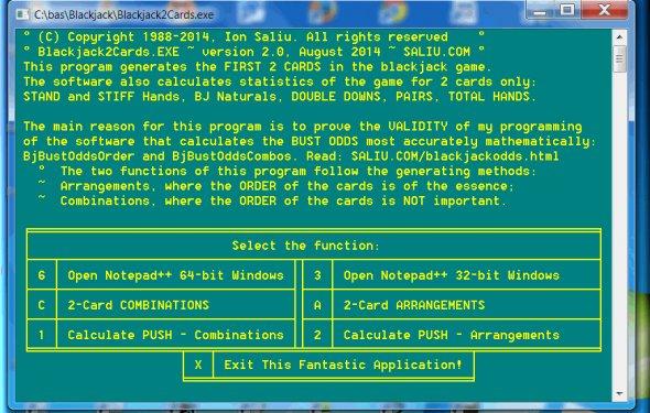 Free blackjack software