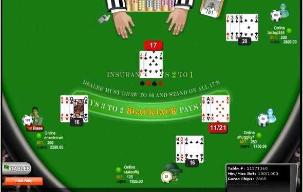 Multiplayer Online Blackjack