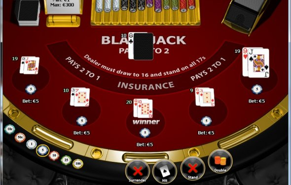 Online blackjack elimination