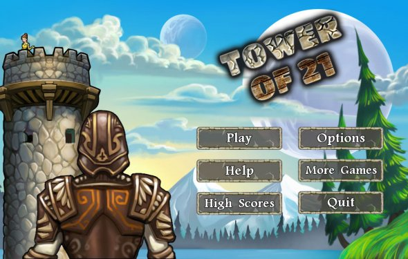A card game called Tower of 21