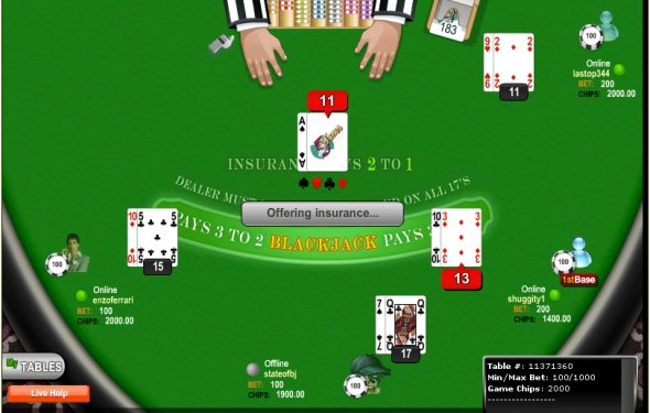 Play blackjack tournament online