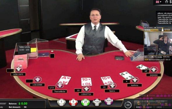 Play blackjack game