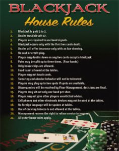 Blackjack House Rules