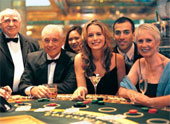 Blackjack Players in a Casino