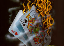 cards on fire 21 - blackjack
