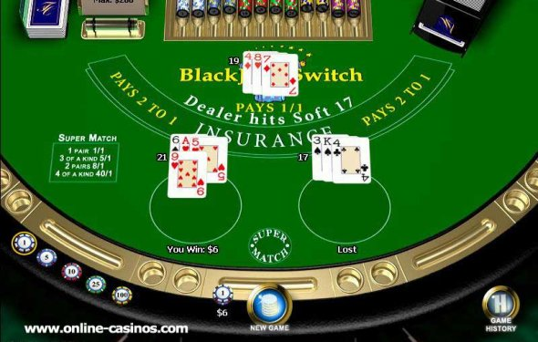 Play Blackjack Switch Online at Casino.com India