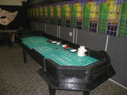 Craps table at a Las Vegas casino party