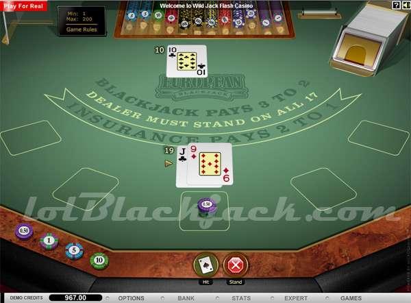 Club World Casino Blackjack