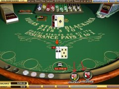 Insurace being offered playing online blackjack