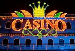 Lit Up Casino Sign