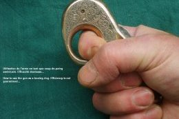 'My Friend' in the held in recommended knuckle duster position
