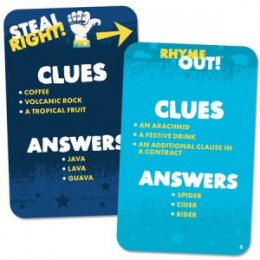 rhyme out cards