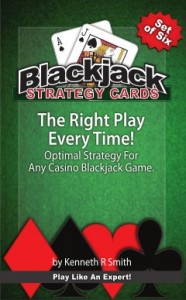 Set of Six Blackjack Strategy Cards