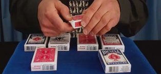 Blank Face Bicycle cards