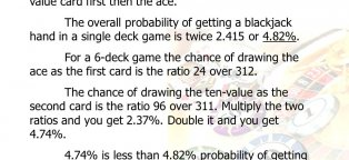 Probability of getting a Blackjack