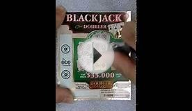 BlackJack Doubler Scratchcard - Watch and see if I win
