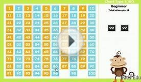 Counting Numbers 1 to 100, Funny Number Chart Game For