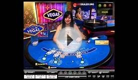 Dealer Kristina: Vegas Blackjack Table