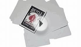 Double Sided Blank Magic Bicycle Cards Have No Markings