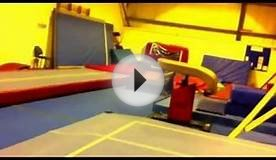 Tumbling- Jack Williams 9 year old- Double Back Somersault